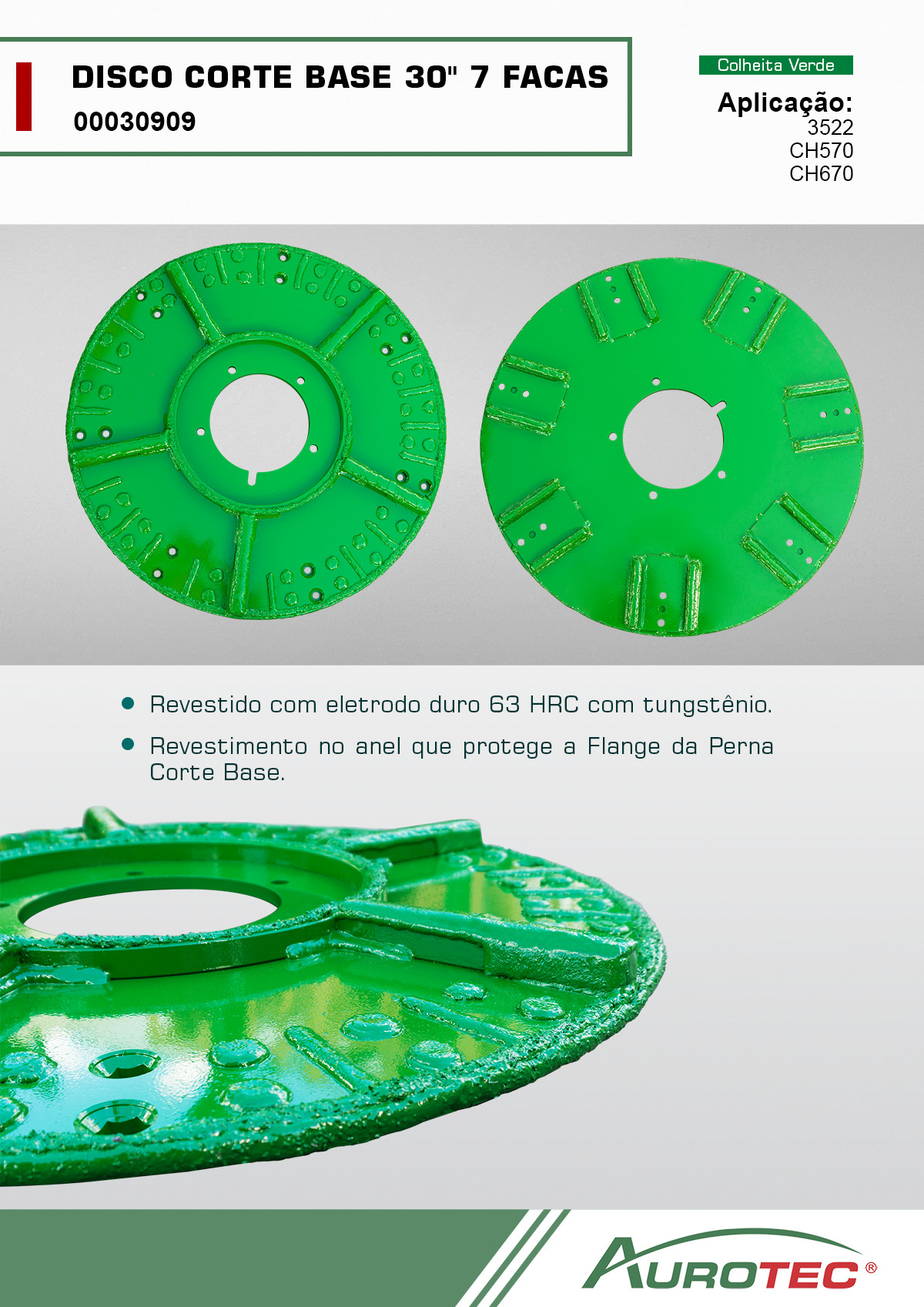 Disco Corte Base 30 pol 7 Facas <h6>00030909<br>Colhedora de cana de açúcar</h6>